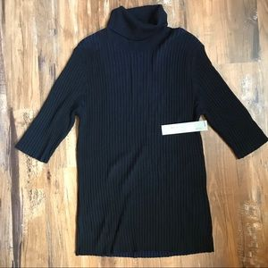 Classiques Entier-Ribbed 3/4 sleeve turtleneck
